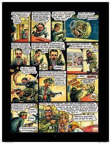 Página de la parodia de 'Air Force One' protagonizada por Aznar, de Kim