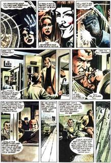 Página de 'V de Vendetta', de Alan Moore y David Lloyd
