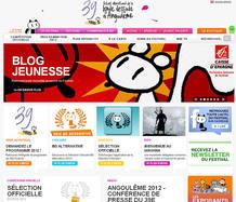 La página web del Festival Internacional del Cómic de Angoulême