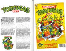Páginas de 'Mi mono Amedio y yo' dedicadas a 'Las Tortugas Ninja'
