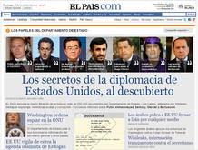 """ELPAIS.com titula """"Los secretos de la diplomacia de Estados Unidos al descubierto"""""""