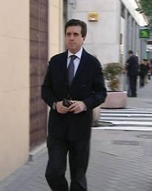 Matas, a la salida de su casa este miércoles en Madrid.