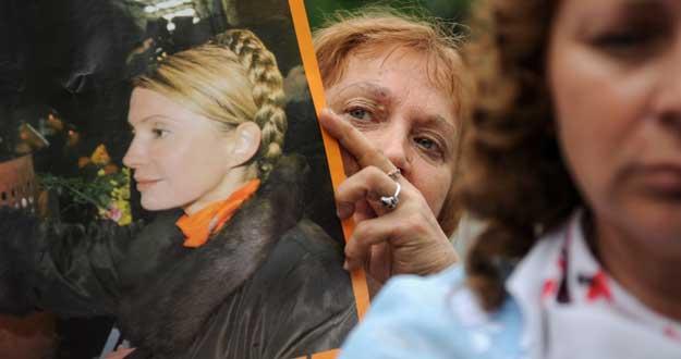 Pancartas de apoyo a Julia Timoshenko
