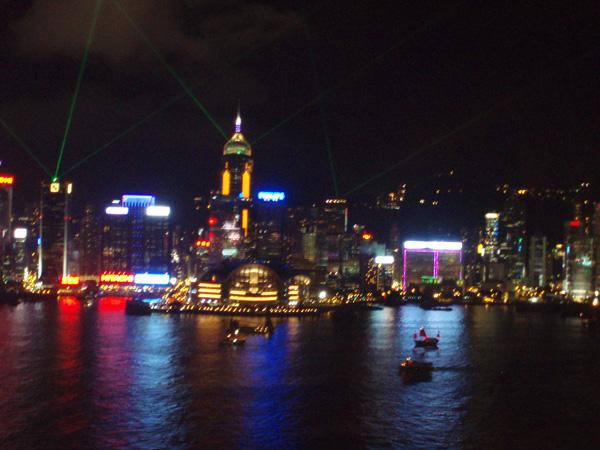 Panorármica nocturna de Hong Kong - Buscamundos