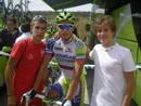 Rubén y su primo, ciclista cadete