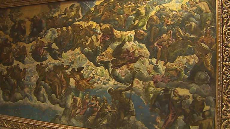 """""""El paraíso"""" de Tintoretto vuelve al Thyssen después de su restauración"""