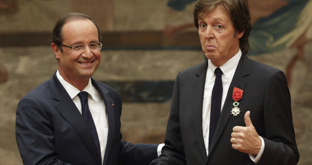 Paul McCartney receives Legion d'honneur