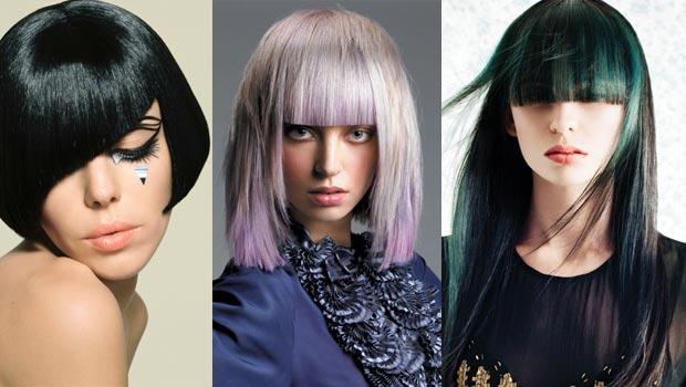 Peinados geométricos con color