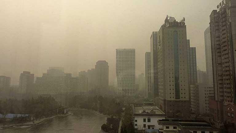 Pekín, en alerta amarilla por la contaminación