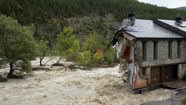 Lo peor del temporal que azota al noreste está en Huesca