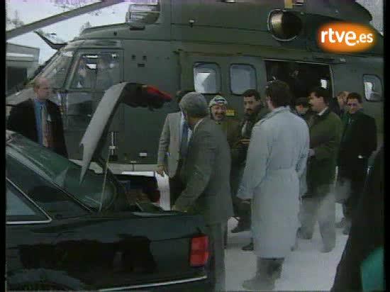 El encuentro Peres-Arafat en el Foro de Davos de 1994