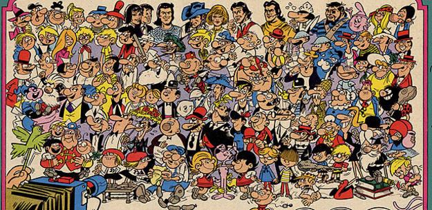 Los personajes más populares de Bruguera