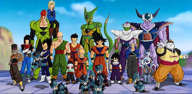 Los personajes principales de 'Dragon Ball'