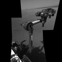 Primer despliegue del brazo de Curiosity