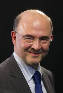 File picture of Pierre Moscovici, has been named Minister of Economy and Finance in Paris