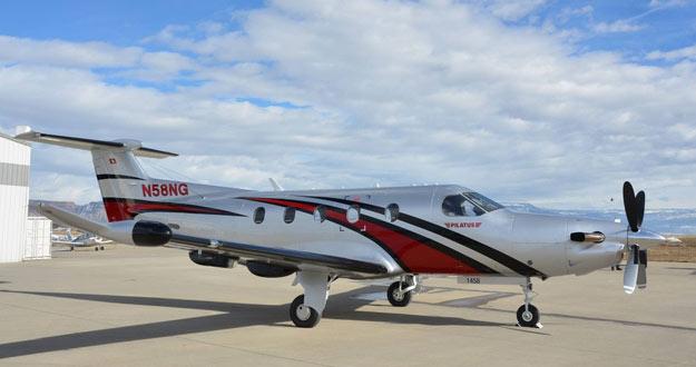 La Pilatus PC-12 en la que Amelia R. Earhart intentará dar la vuelta al mundo