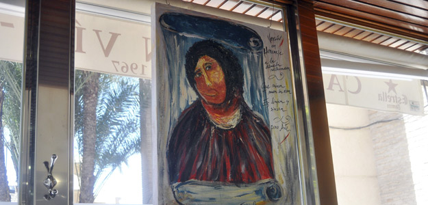 UN PINTOR MURCIANO PINTA UN ECCEHOMO DEDICADO A LA RESTAURADORA DEL DE BORJA