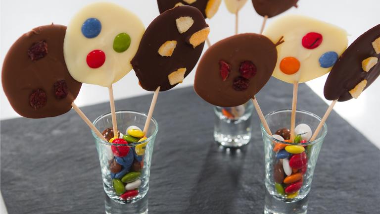 Trucos de sergio - Piruletas de chocolate con frutas
