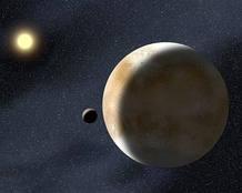 El planeta enano Eris con su luna Disnomia