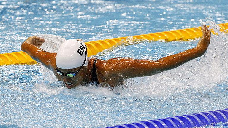 Plata para Teresa Perales en 50m mariposa, su quinta medalla