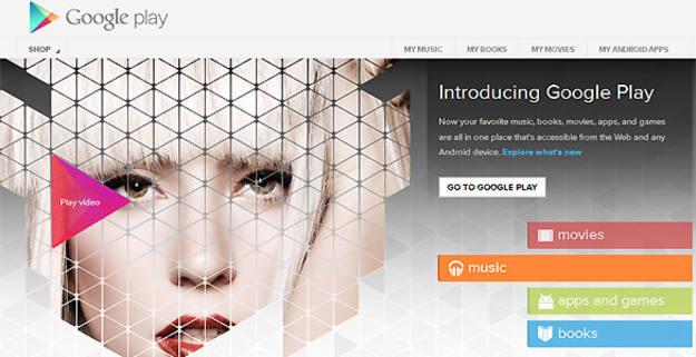Google Play, la nueva tienda de aplicaciones de Google, ofrece juegos, películas, series y música