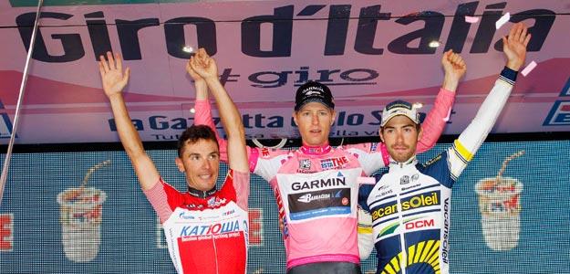 El podio del Giro 2012