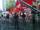 Podium de la primera etapa de la Vuelta 2011