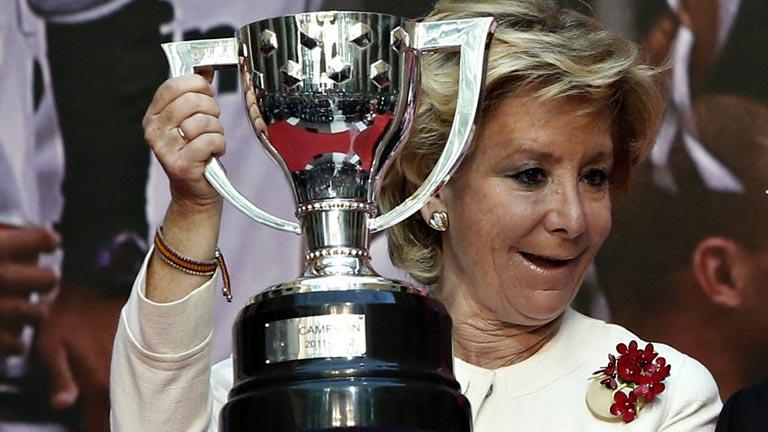 Esperanza Aguirre plantea suspender la final de la Copa del Rey si hay pitadas