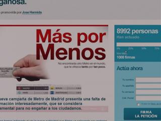 Ver vídeo  'Polémica por la última campaña publicitaría de Metro de Madrid'