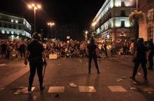 La policía ha cercado todo el entorno de Sol desde la calle El Arenal hasta el acceso de Sevilla