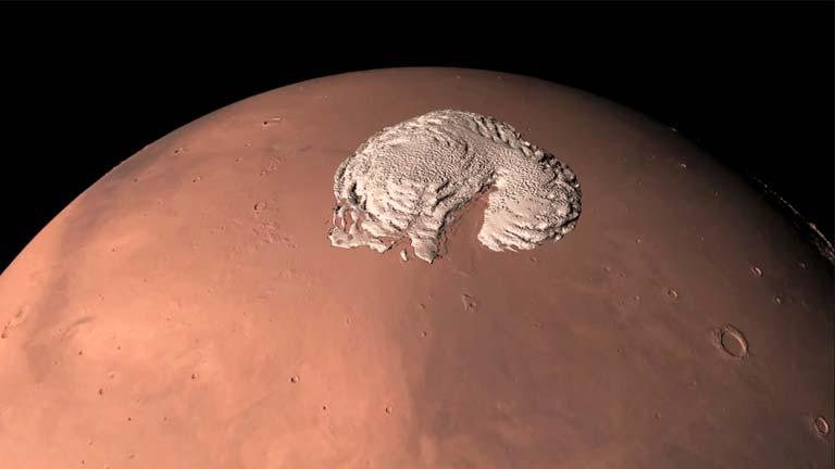 El polo norte de Marte, en 360º