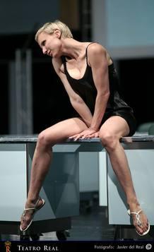 Poppea (Nadja Michael) durante uno de los ensayos