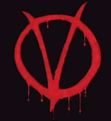 La popular 'V de Vendetta'