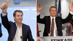Ver vídeo  'Populares y socialistas analizan este lunes los resultados en las elecciones gallegas y vascas'