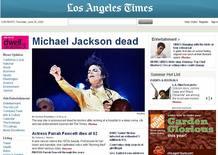 Portada de Los Angeles Times