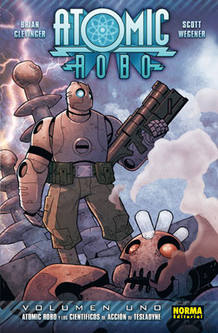 Portada de 'Atomic robo 01', de Brian Clevinger y Scott Wegener