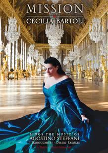 Portada del DVD 'Mission' (Agostino Steffani in Versailles) publicado por DECCA