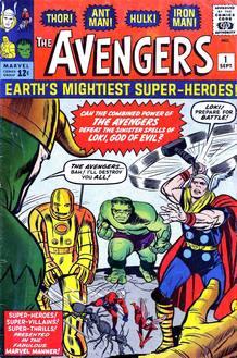 Portada del Nº1 de 'Los vengadores' de Stan Lee y Jack Kirby (1963)