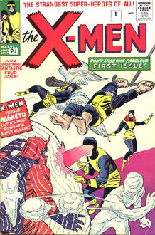 Portada del Número 1 de 'The X-Men' ('La Patrulla-X') (1963)