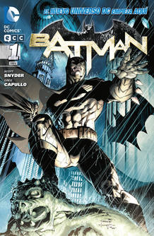 Portada del primer n&uacute;mero de Batman de Scott Snyder y Greg Capullo