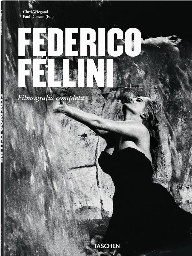 Portada en espa&ntilde;ol del libro de Taschen 'Federico Fellini. Filmograf&iacute;a'.
