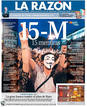 Portada de &#146;La Raz&oacute;n&#146; en el primer aniversario del 15M