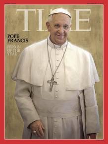 Portada de la revista 'Time', con el papa Francisco como persona del año 2013