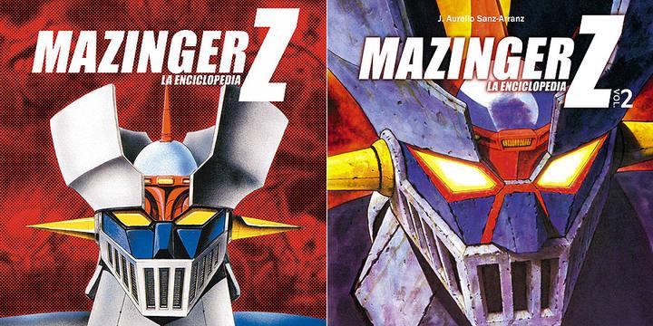 Portadas de los dos tomos de 'Mazinger Z, la enciclopedia' de J. Aurelio Sanz-Arranz