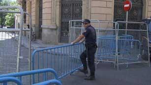 Ver vídeo  'Posada valora el dispositivo de seguridad del Congreso'