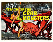 Póster de 'El ataque de los cangrejos gigantes', de Roger Corman