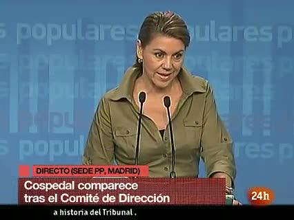 """Ver v?deo  'El PP cree que las dimisiones en el TC son """"una mala noticia""""'"""
