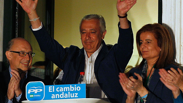 El PP gana en Andaluc&iacute;a, pero no consigue mayor&iacute;a absoluta