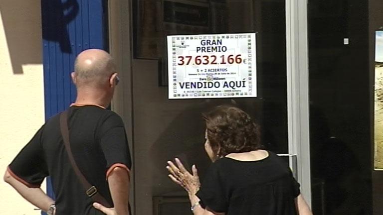 Un afortunado gana más de 37,5 millones de euros en el sorteo de Euromillones