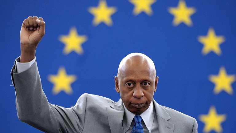 El disidente cubano Guillermo Fariñas recoge el Premio Sajarov en Bruselas